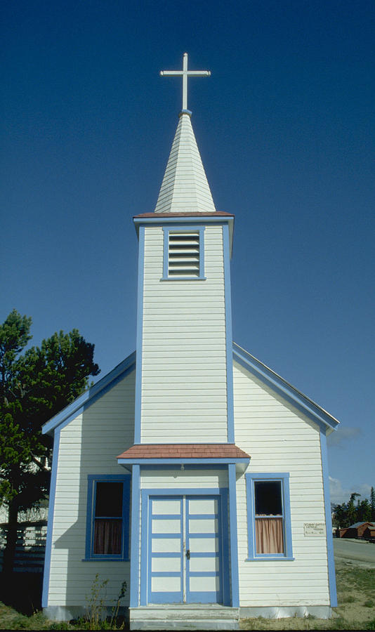Little Photograph - Church In Alaska by Carl Purcell