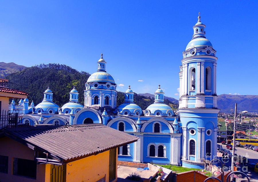Okotoks Photograph - Church In Banos Ecuador by Al Bourassa