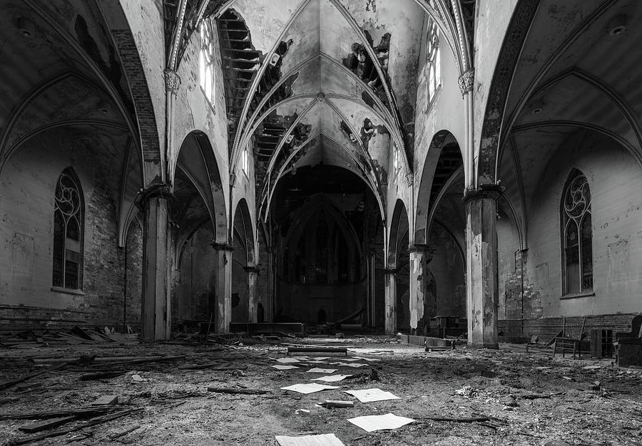 Church in Black and White by Lindy Grasser