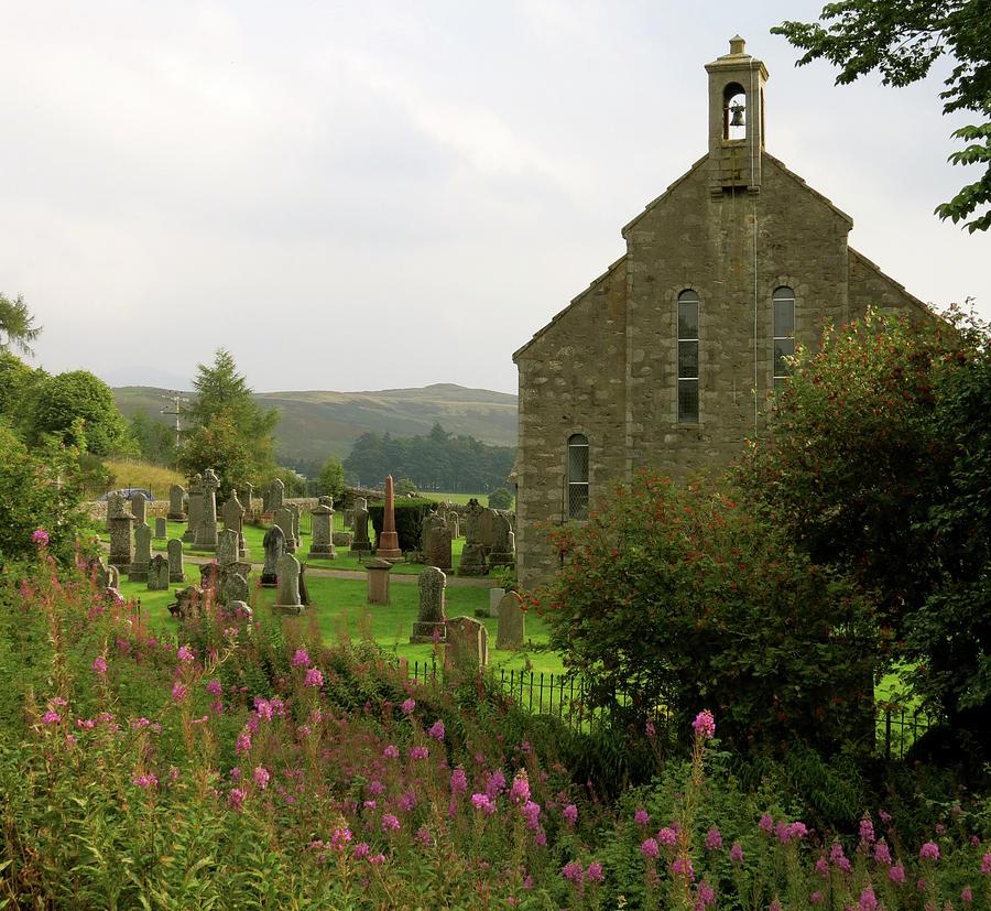 Churchyard Photograph - Church in Isle of Skye by Azthet Photography