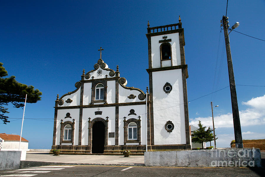Catholic Photograph - Church In The Azores by Gaspar Avila