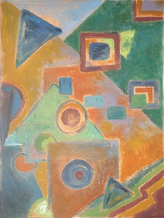 Abstract Painting - Church No. 5 by Mauro Longordo