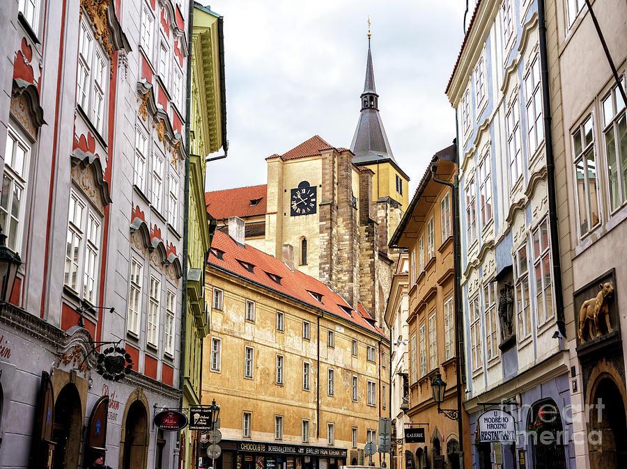 St. Giles Photograph - Church Of Saint Giles In Prague by John Rizzuto