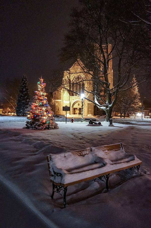 Church of St Mary St Paul at Christmas Photograph by Kendall McKernon