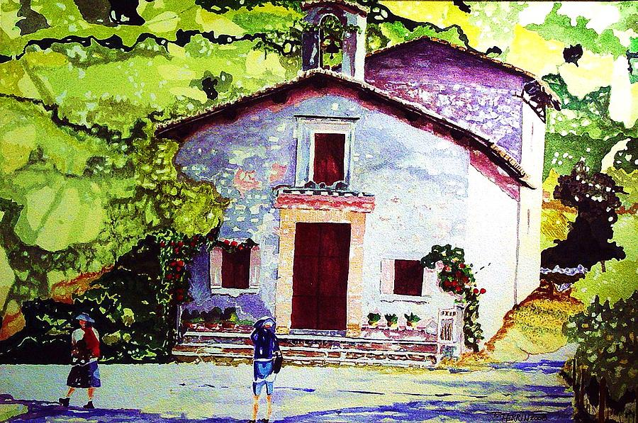 Italy Painting - Church Of The Roses Italy by Tom Herrin