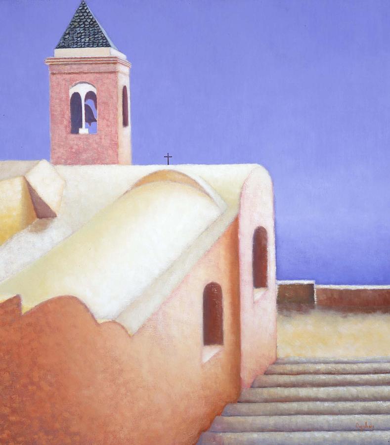 Landscape Painting - Church On The Coast by Gloria Cigolini-DePietro