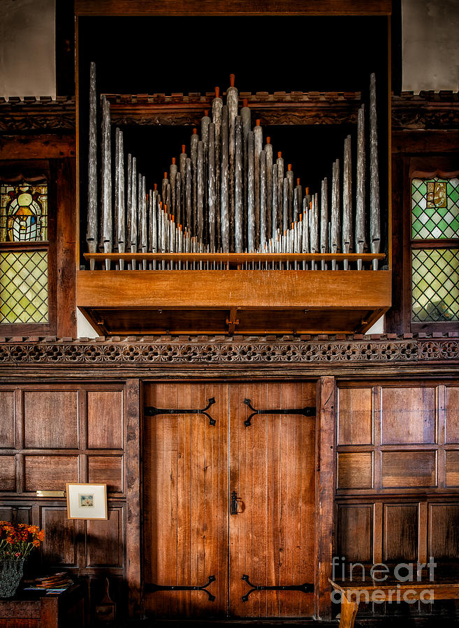 British Photograph - Church Organ by Adrian Evans