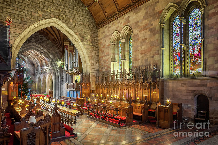 Cathedral Photograph - Church Organist by Adrian Evans