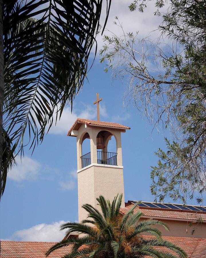 Churches Photograph - Church Steeple by Rosalie Scanlon