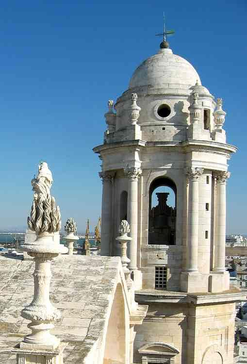 Architecture Photograph - Church Tower In Cadiz by Halle Treanor