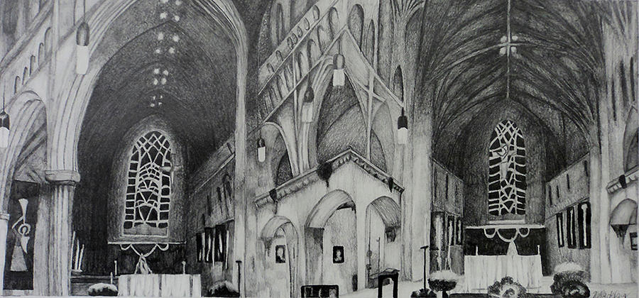 Gothic Architecture Perspective Drawing