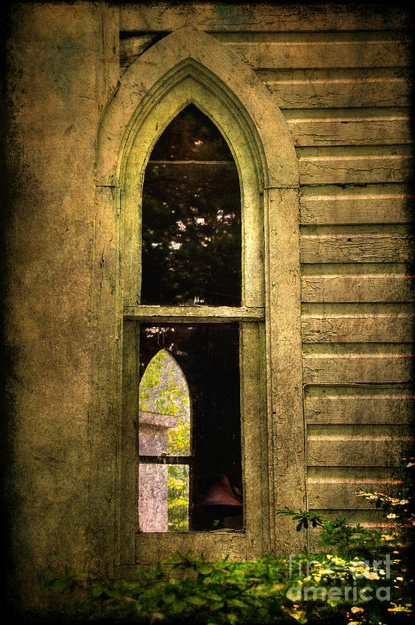 Church Photograph - Church Window Church Bell by Lois Bryan