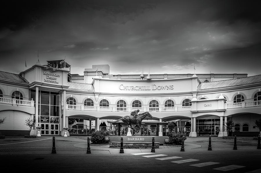 Churchill Downs In Black And White