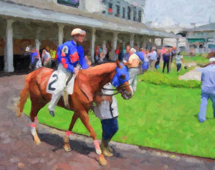 Churchill Digital Art - Churchill Downs by Jill Lang