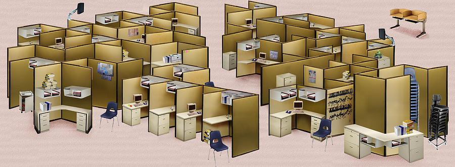 Office Photograph - Churn Decluttered by Simon Currell