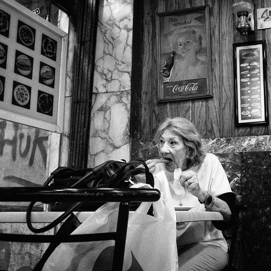 Cafeteria Photograph - Churroclock  #lady #woman #food by Rafa Rivas