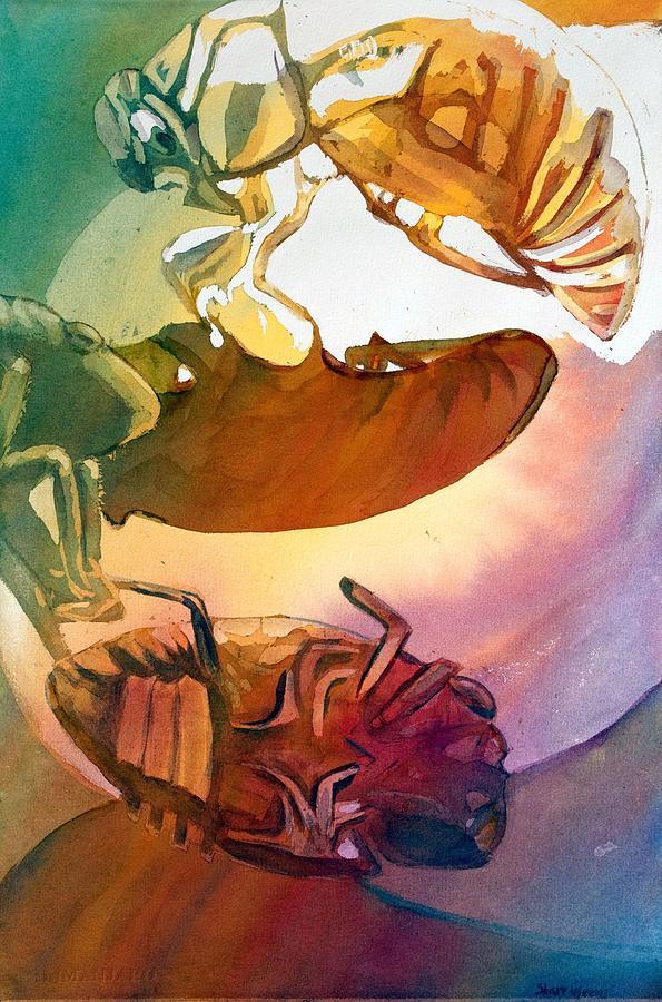 Cicadas Painting - Cicadas by Starr Weems