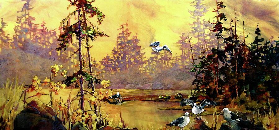 Ciel De Jaune Painting by Bonny Roberts