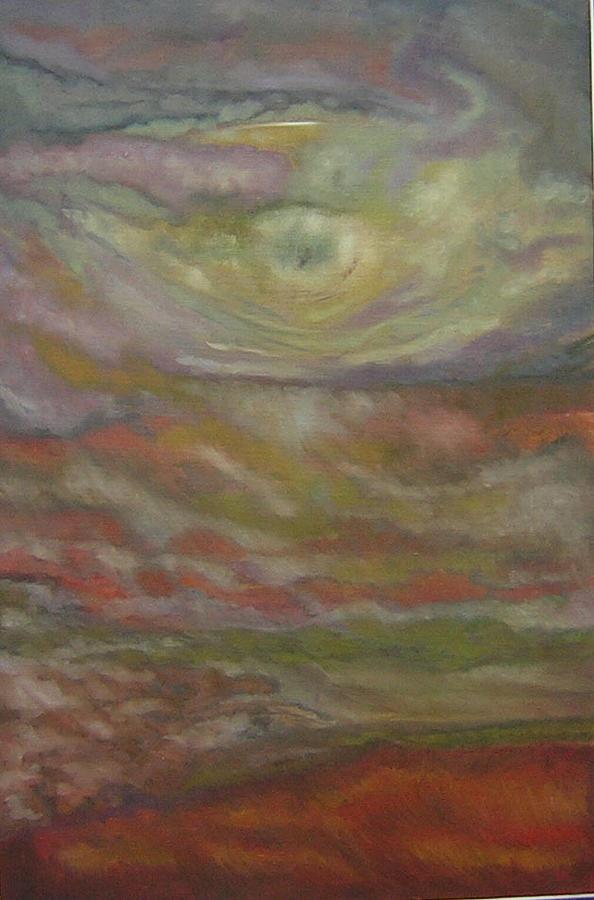 Abstract Painting - Cielo Y Tierra by Carmen Montoya Diaz del Olmo