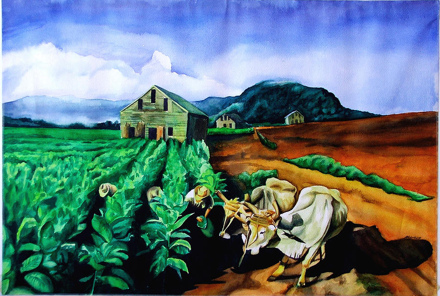 Landscape Painting - Cigar Champ by Antonio Molina