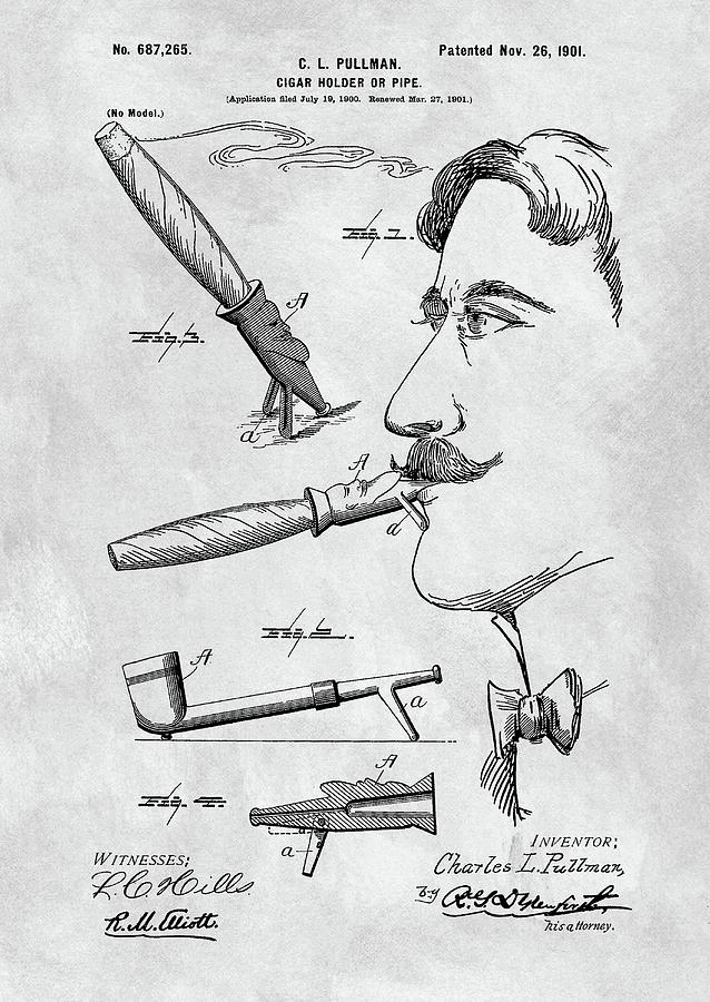 Cigar Drawing - Cigar Holder  by Dan Sproul
