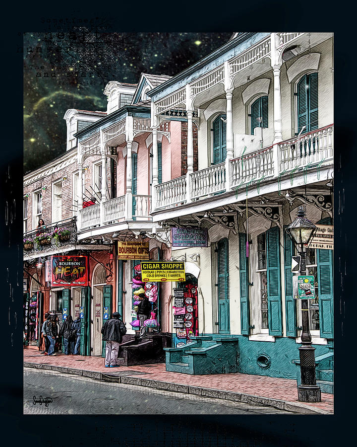 Cigar Shop of New Orleans by Sandra  Schiffner