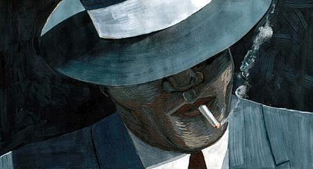 Cigarette Guy Painting by Cameron Hampton P S A