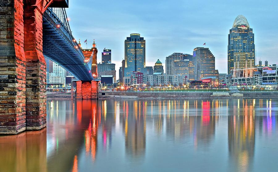 Cincinnati Photograph - Cincinnati At Ground Level by Frozen in Time Fine Art Photography