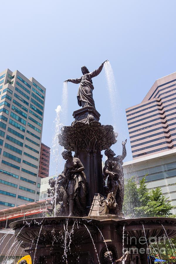 2012 Photograph - Cincinnati Fountain Tyler Davidson Genius Of Water by Paul Velgos