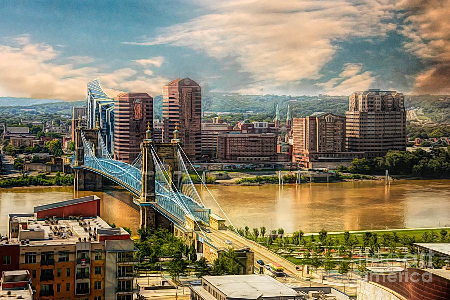 Cincinnati Photograph - Cincinnati Ohio by Gaby Swanson