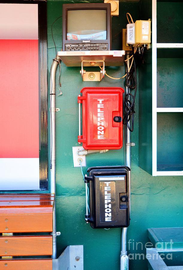Telephones Photograph - Cincinnati Reds Dugout Hotline by Mel Steinhauer