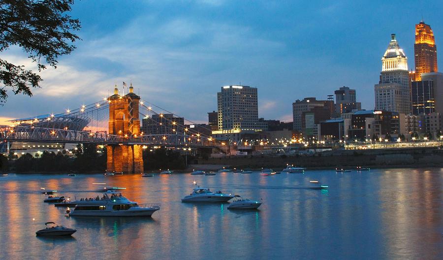 Landscape Photograph - Cincinnati River Front by John Mullins