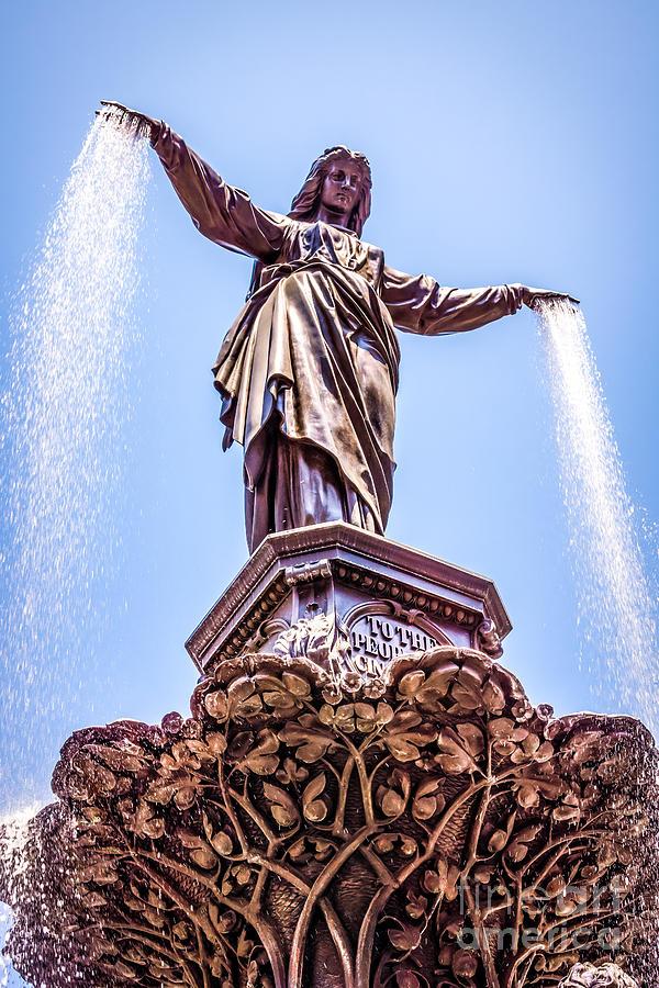 2012 Photograph - Cincinnati Tyler Davidson Fountain Genius Of Water  by Paul Velgos