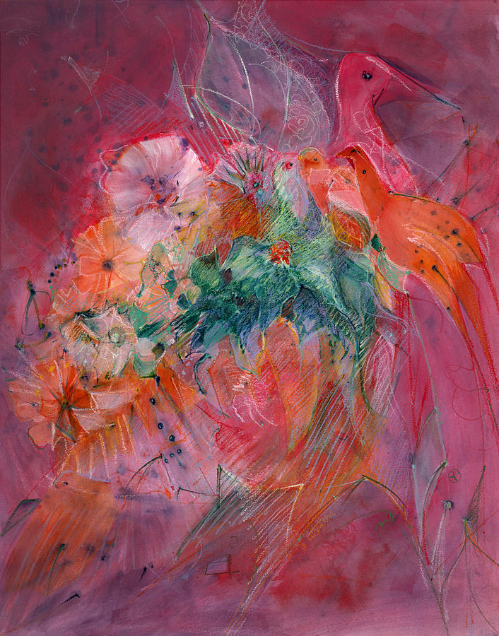 Abstract Painting - Cinco II by Mary Sawyer Atkinson