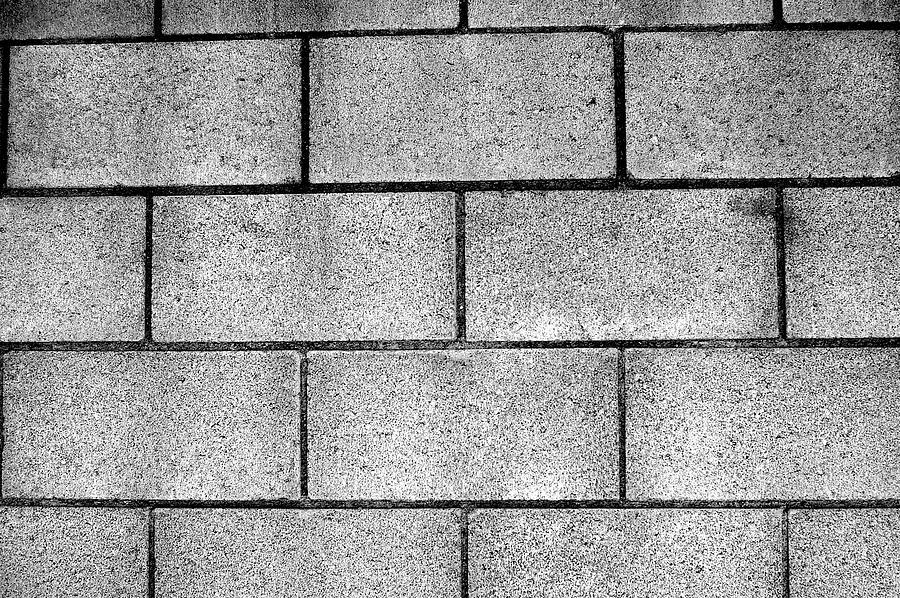 Cinder Photograph - Cinder Block Wall by Jera Sky