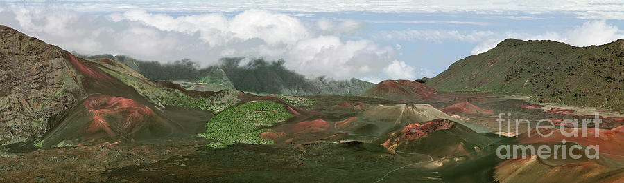Cinder Cones in the Haleakala Crater by Frank Wicker