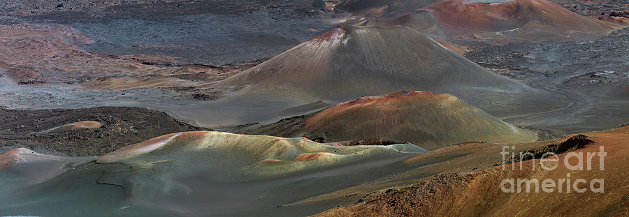 Cinder Cones Panorama in the Haleakala Crater by Frank Wicker