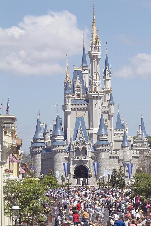 Cinderella Castle Photograph - Cinderella Castle at Walt Disney World by Charles  Ridgway