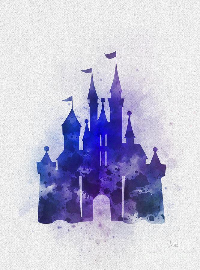 Cinderella Mixed Media - Cinderella Castle Blue by My Inspiration