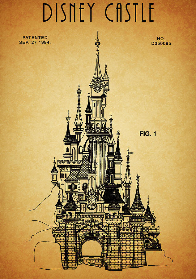 Cinderella Castle Patent Drawing by Dan Sproul