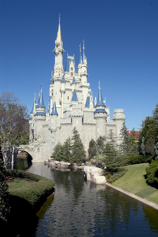 Cinderella Castle Photograph - Cinderella Castle Reflections by Charles  Ridgway