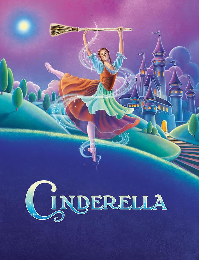 Ballet Painting - Cinderella Poster by Anne Wertheim