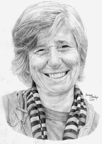 Cindy Sheehan Drawing - Cindy Sheehan by Jennaya Dunlap