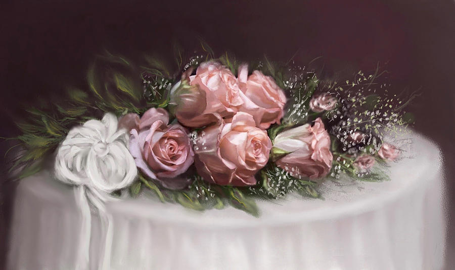 Roses Painting - Spray Of  Roses by Bonnie Willis