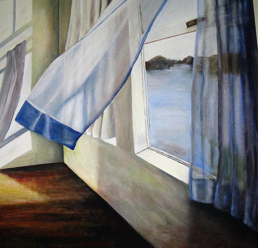 Landscape Painting - Cindys Window by Eileen Kasprick