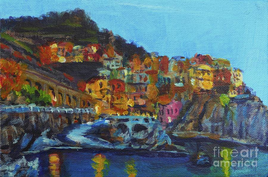 Cinque Terre Painting by Laura Toth