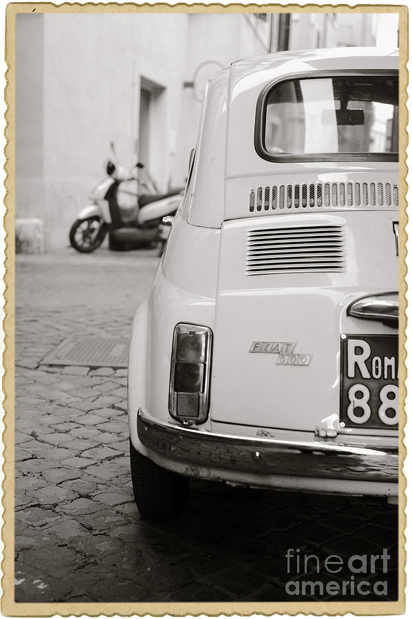 Italy Photograph - Cinquecento Black and White by Stefano Senise