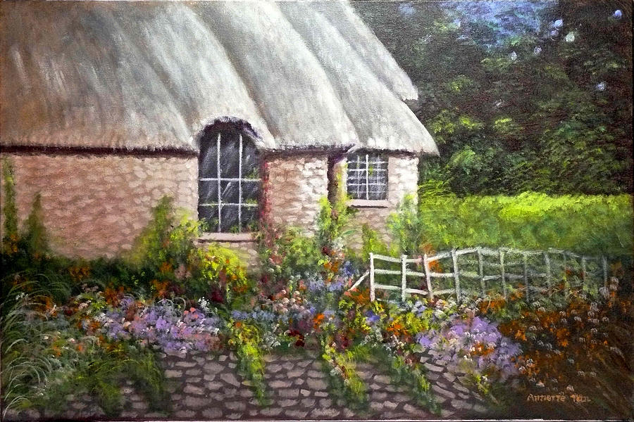 Landscape Painting - Ciotswold by Annette Tan