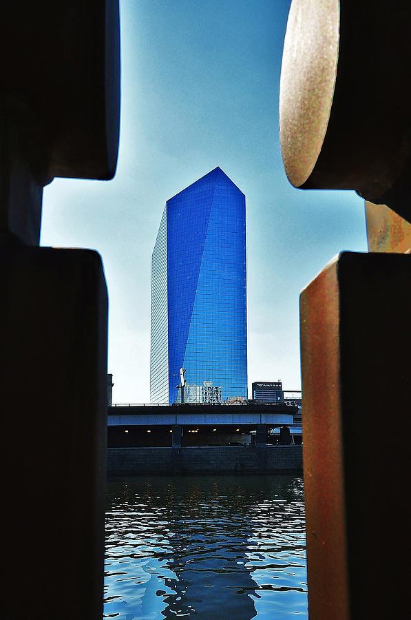 Philadelphia Skyline Photograph - Cira Behind Bars by Andrew Dinh