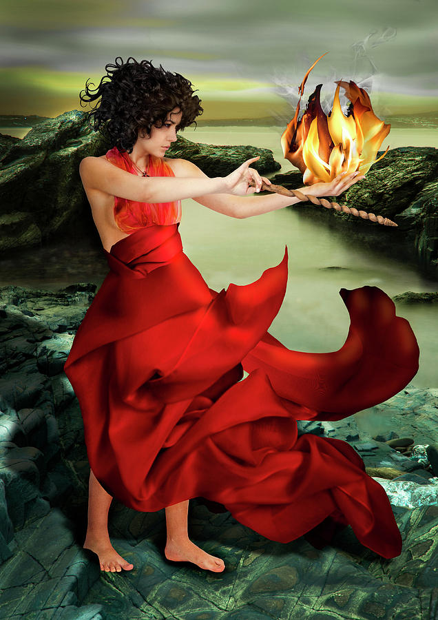 Circe Photograph - Circe, Greek Mythological Goddess by Debra Jayne
